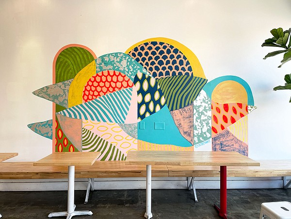 A mural at the North Park Coffee and Tea Collective by Sa...