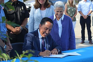 Photo for Mayor Gloria Signs Legislation Paving Way To Invest $293M In Infrastructure