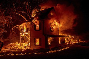 Photo for Devastating Wildfires Advancing Through Northern California