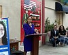 Air Force veteran Jennica Tamayo speaks about h...