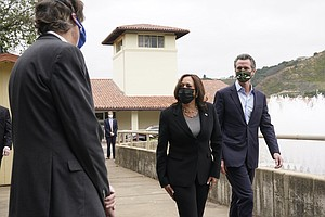 Photo for Harris Cancels Planned California Campaign Stop With Newsom