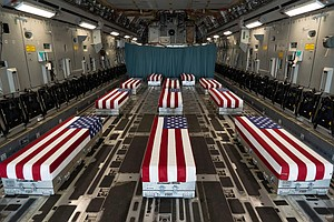 Photo for Remains Of Camp Pendleton Soldiers Arrive At Dover Air Force Base