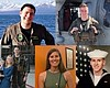 Photo collage of the five Sailors killed when a...