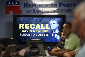 Photo for GOP Pushes Unfounded Fraud Claims Before California Recall