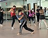 Dance students practice in Southwestern College...