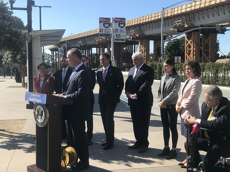 Rep. Peters Authors Bill That Ties Federal Transit Funds To Housing And More Local News (San Diego News Matters) | KPBS