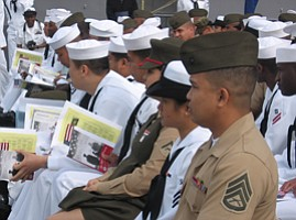 59 U.S. Soldiers Naturalized Today at San Diego Naval Sta...
