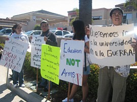 Mission Bay High School Students Protest ROTC Program