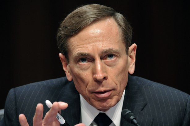 David Petraeus, then-CIA director, testifies before the Senate Intelligence Committee on Jan. 31. Petraeus resigned Friday after acknowledging an extramarital affair.