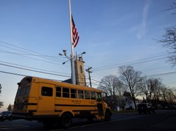 Friday afternoon: As a bus took some students home in Newtown, Conn., the fla...