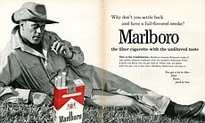 Philip Morris's iconic Marlboro Man from 1962.