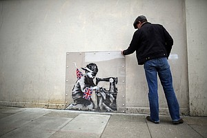 Auction Halted Of Banksy Mural Removed In London