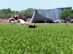 A view of the devastation resulting from the April 17 fertilizer plant blast ...