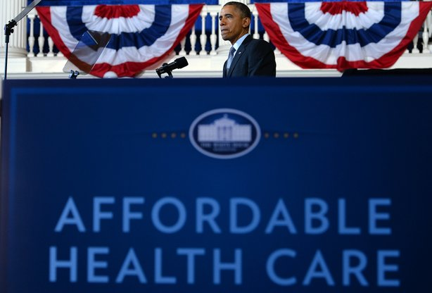 President Obama speaks about the Affordable Care Act in Boston, Nov. 11, 2013.