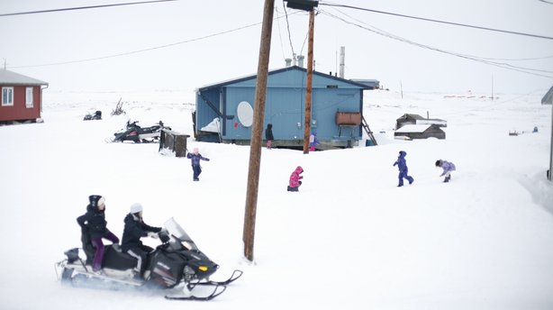 """The 350 residents of Newtok, Alaska, will soon be the country's first """"climate refugees."""" The U.S. Army Corps of Engineers says their village is likely to be underwater in just four years."""