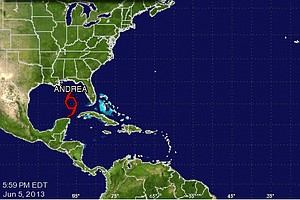 Andrea, First Named Storm Of 2013 Season, Forms In Gulf
