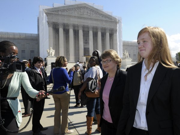 Abigail Fisher (right), the Texan involved in the University of Texas affirma...