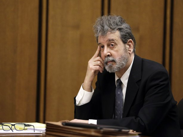 Bobby Thompson listens to court proceedings on Monday in Cleveland.