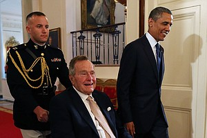 President George H.W. Bush Honored At White House