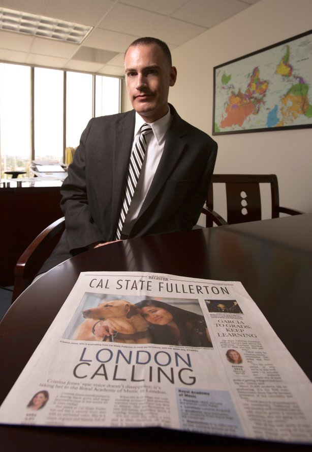 Jeffrey Cook, chief communications officer at Cal State, Fullerton, says