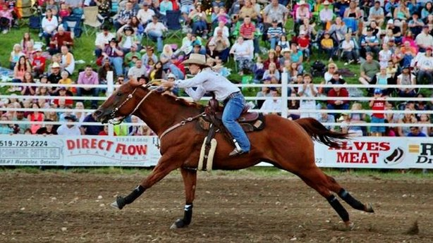 Megan Yurko and her horse, Beea. Now 16, Megan has been cowgirl barrel racing since the age of 6.