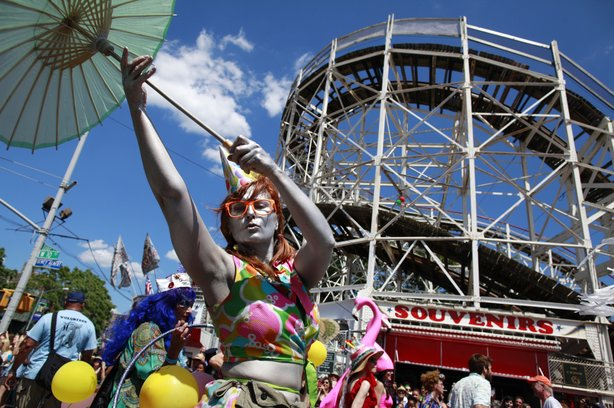 The Mermaid Parade at Coney Island, Brooklyn, draws hundreds of thousands of revelers each June. After sustaining significant damage in Hurricane Sandy, the nonprofit that runs the parade was almost unable to host this year's event, scheduled for Saturday.