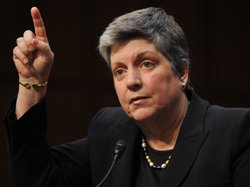 Janet Napolitano speaks on Capitol Hill, July 12, 2013.