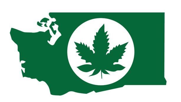 Branded: Authorities in the state of Washington say pot grown legally in the state will need to be in a package with a label like this.