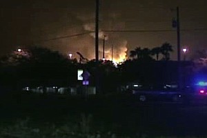 Explosions And Fire At Propane Tank Plant Injure At Least 7
