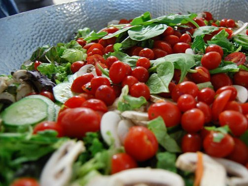 One of SpareFoot chef Avi Dvorin's fresh salads prepared daily for the firm's 90 employees.