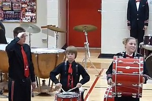 VIDEO: Kid's Salute Turns Cymbal Crash Into Symbolic Victory