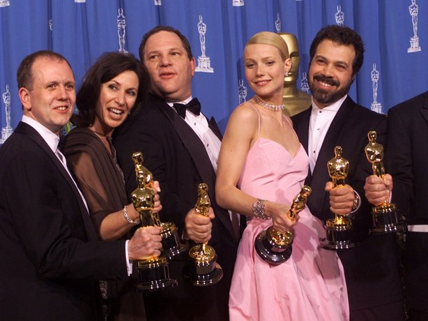 Producers and cast celebrate after winning best picture for