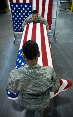 Dignified transfer of remains at Dover Air Force Base