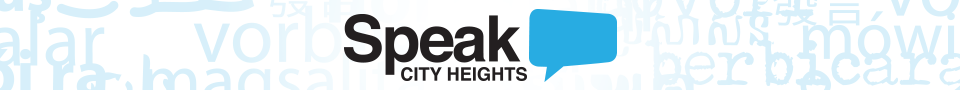 Speak City Heights section banner