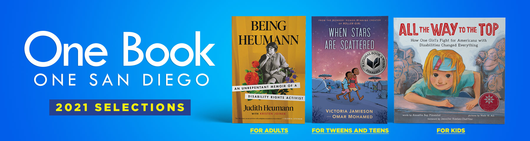 One Book One San Diego banner