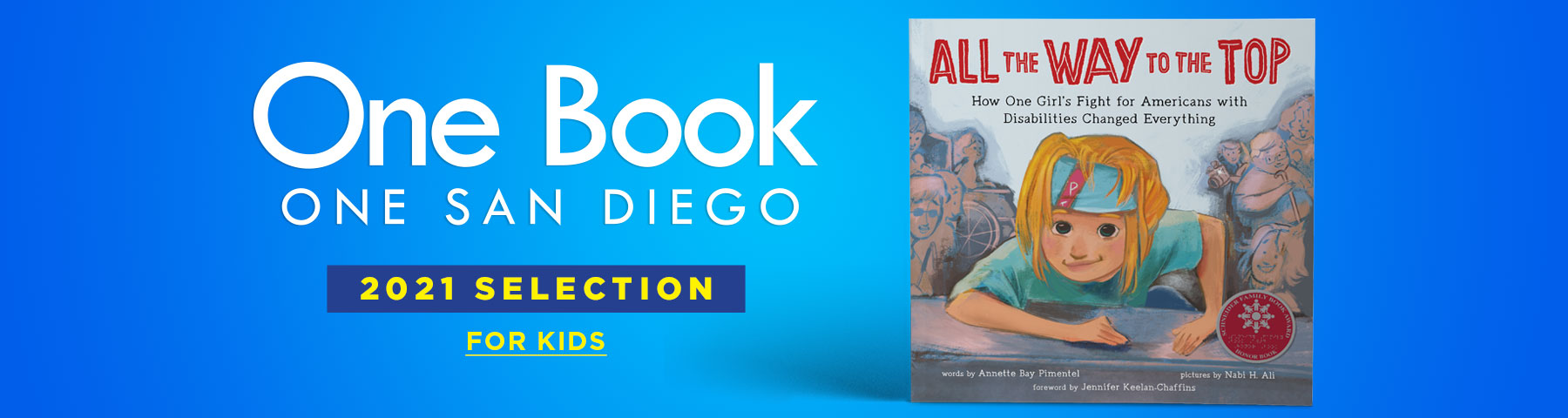 One Book One San Diego for Kids banner